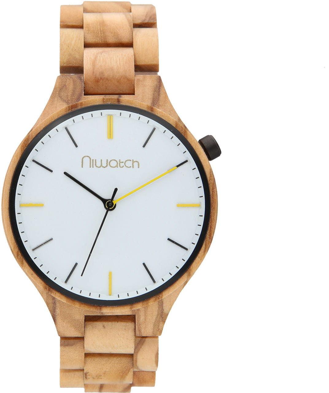 Zegarek drewniany Niwatch - kolekcja CASUAL - ZEBRANO