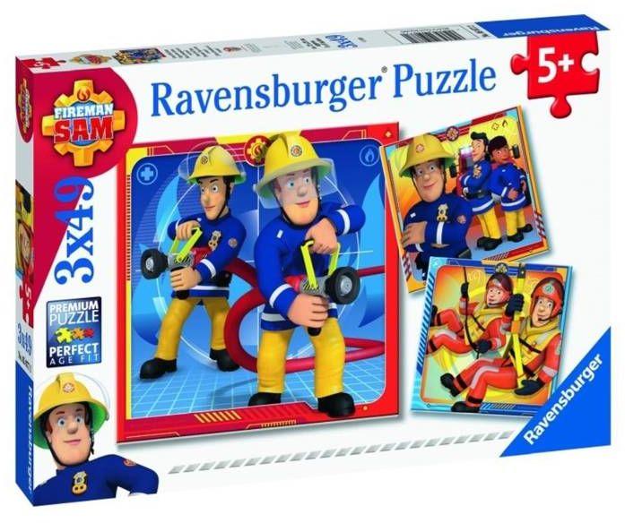 Puzzle 3x49 Strażak Sam na ratunek! - Ravensburger