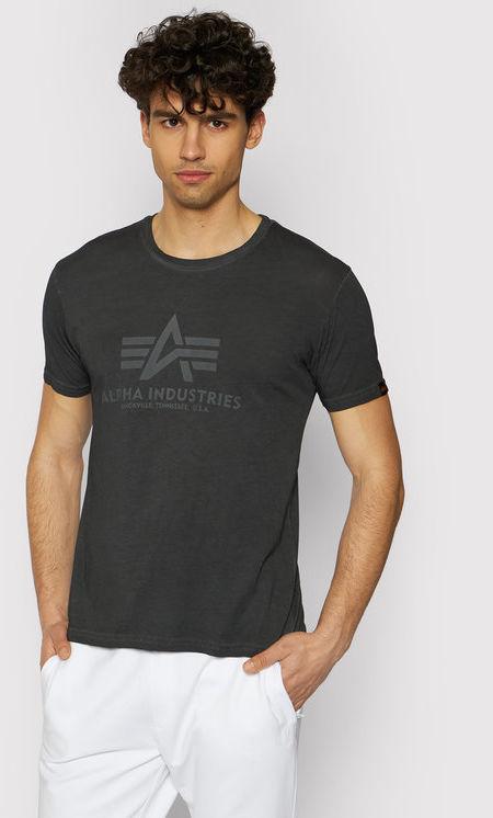 Alpha Industries T-Shirt Basic T Oildye 116515 Czarny Regular Fit