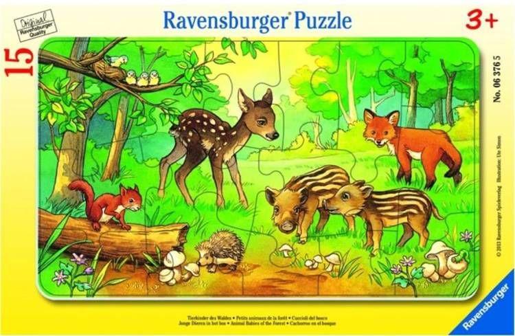 Puzzle 15 Leśne zwierzęta - Ravensburger