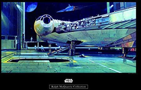 Komar obraz ścienny Star Wars Classic RMQ Falcon Hangar pokój dziecięcy, pokój młodzieżowy, dekoracja, druk artystyczny bez ramy WB140-50x40 Rozmiar: 50 x 40 cm (szerokość x wysokość)