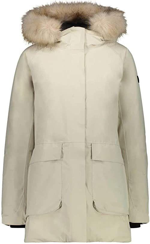 CMP Damska parka Con Cappuccio Eco Fur kurtka biały Gesso 46