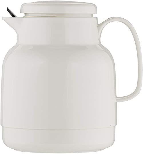 Helios Mondo dzbanek izolacyjny z tworzywa sztucznego z sitkiem do herbaty, biały, 14,2 x 13,6 x 19,3 cm