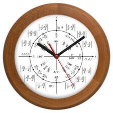 Zegar drewniany rondo geometria