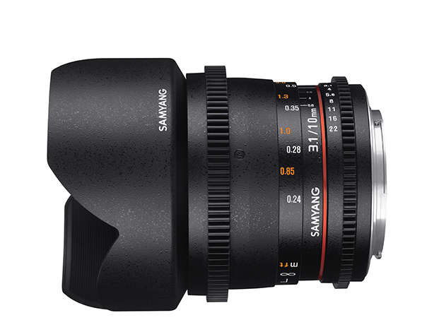 Samyang 10mm T3.1 VDSLR ED AS NCS CS II - obiektyw stałoogniskowy, Nikon F Samyang 10mm T3.1 VDSLR ED AS NCS CS II