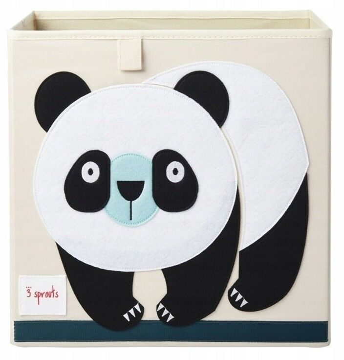 3 Sprouts - 3 Sprouts Pudełko na Zabawki Panda Black