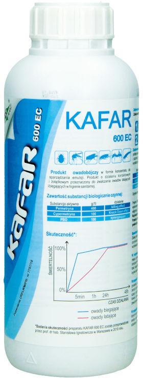 KAFAR 600 EC 1L. Najsilniejszy środek na pluskwy, oprysk na komary, muchy, karaluchy.