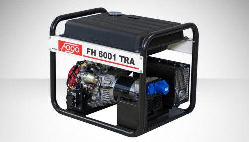 Fogo FH 6001 TRA Agregat prądotwórczy jednofazowy 230V, moc max - 6,2 kW - AVR automatyczny regulator napięcia, powiększony zbiornik paliwa, przyłącze