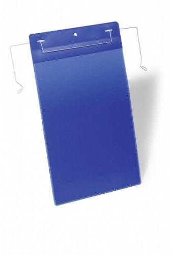 Kieszeń magazynowa z drutami montażowymi DURABLE 223x368 (A4 pionowa) niebieska (50szt.) 175307