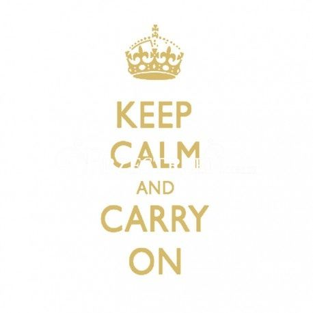 SERWETKI PAPIEROWE - Keep Calm and Carry On GOLD - 25x25 cm