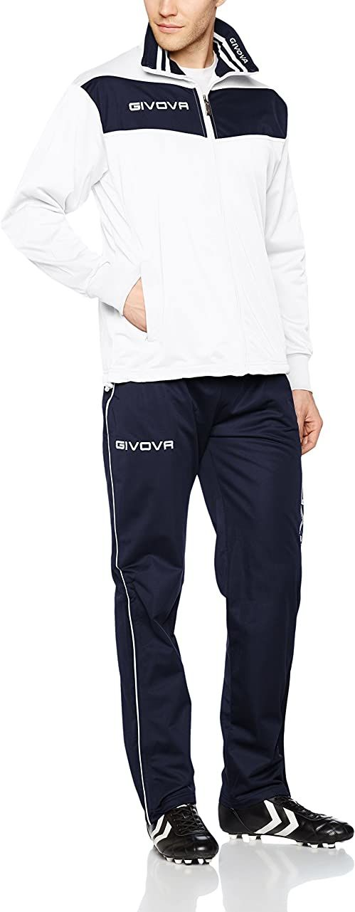 Givova, garnitur wela, biały/niebieski, 2XS