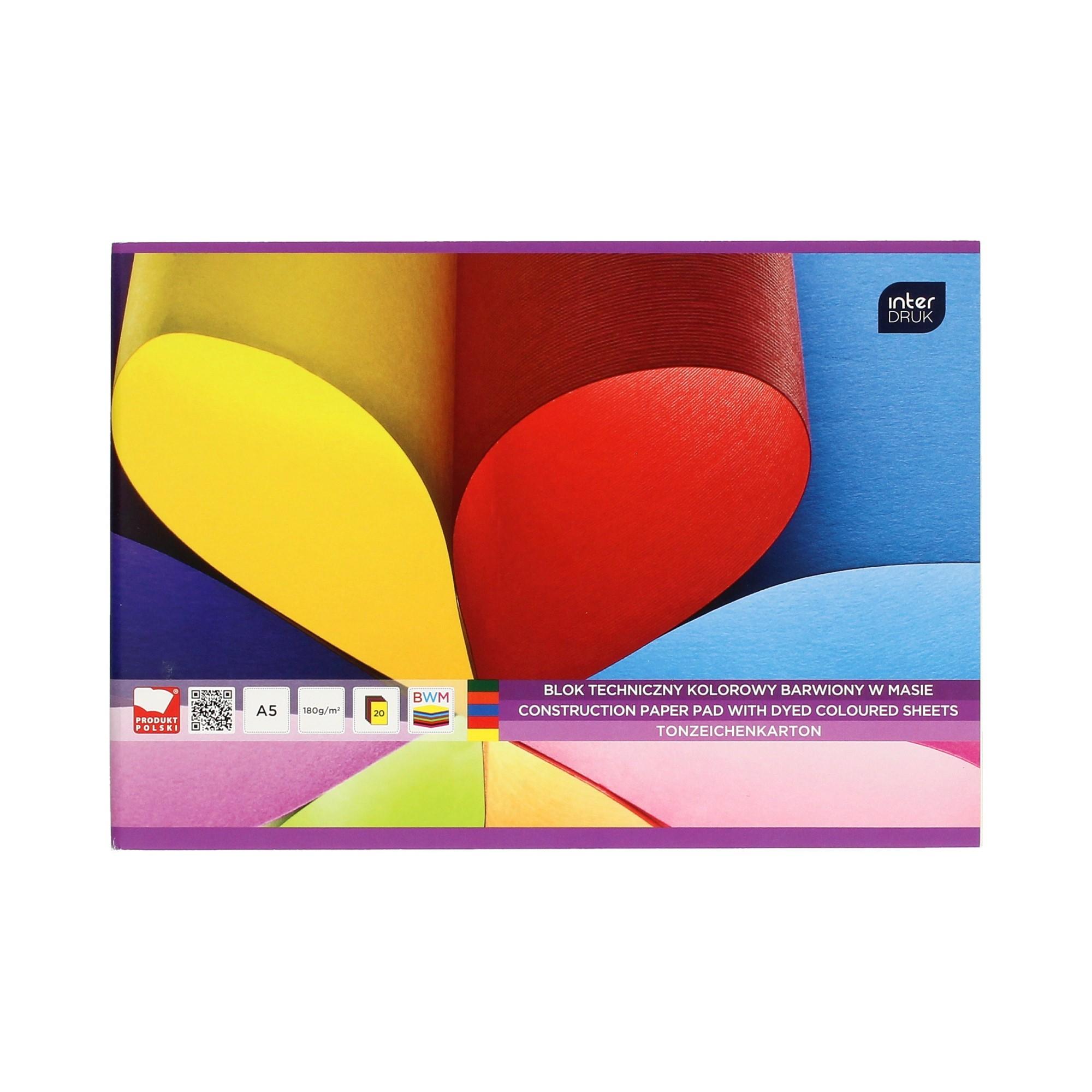 Blok techniczny A5/20 kolor barwiony Interdruk