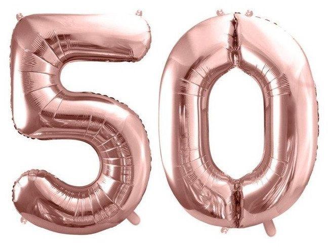 Balony foliowe 50 rose gold 86cm FB1M-50-019R
