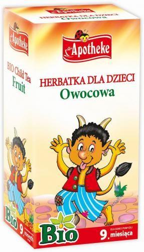Herbatka dla dzieci OWOCOWA BIO 20x2g Apotheke