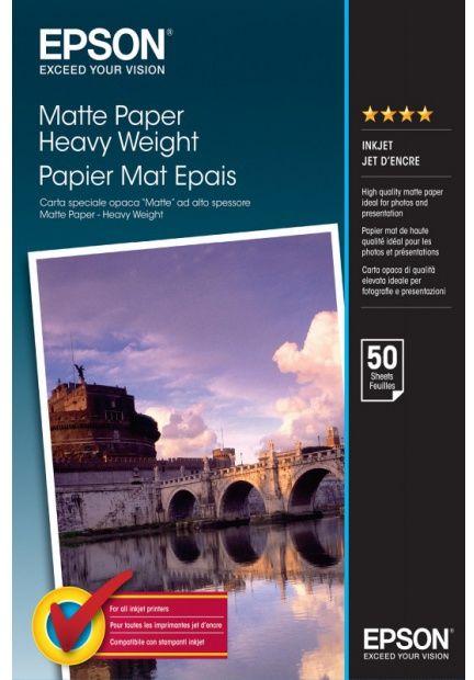 Papier EPSON Matte Paper Heavy Weight 167g - A3+, 50 arkuszy (C13S041264)