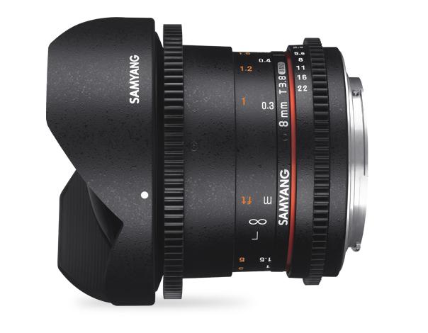 Samyang 8mm T3.8 VDSLR UMC Fish-eye CS II - obiektyw stałoogniskowy, Nikon F Samyang 8mm T3.8 VDSLR UMC Fish-eye CS II