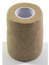 Elastyczny bandaż adhezyjny (samoprzylepny) Coban Cielisty 4,5 m x 10 cm