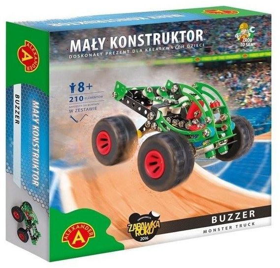Mały Konstruktor Monster Truck - Buzzer ALEX