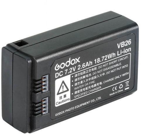 Godox VB26 - akumulator do lampy błyskowej V1, 2600mAh Godox VB26 akumulator 2600mAh