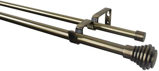 Karnisz regulowany GoodHome Antiki podwójny 16/19 mm 120-210 cm pierścień