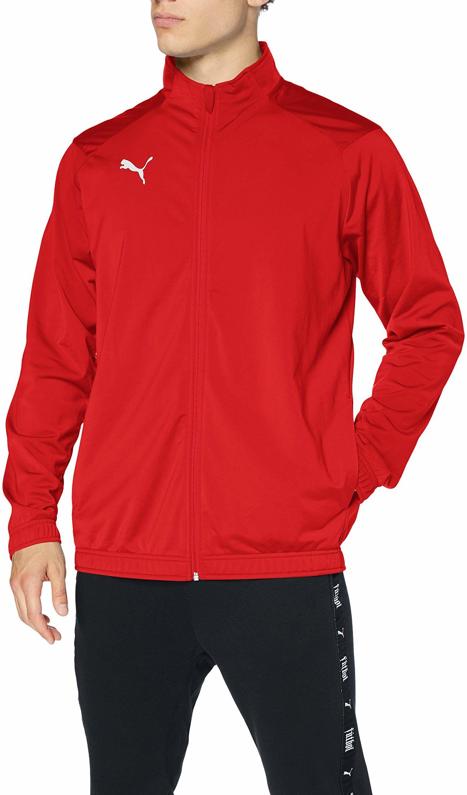 PUMA Kurtka męska Liga Sideline Poly Jacket Core czerwony Puma Red-Puma White L
