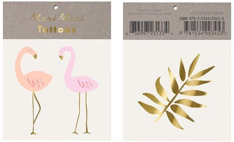 Meri Meri - Tatuaże Flamingi