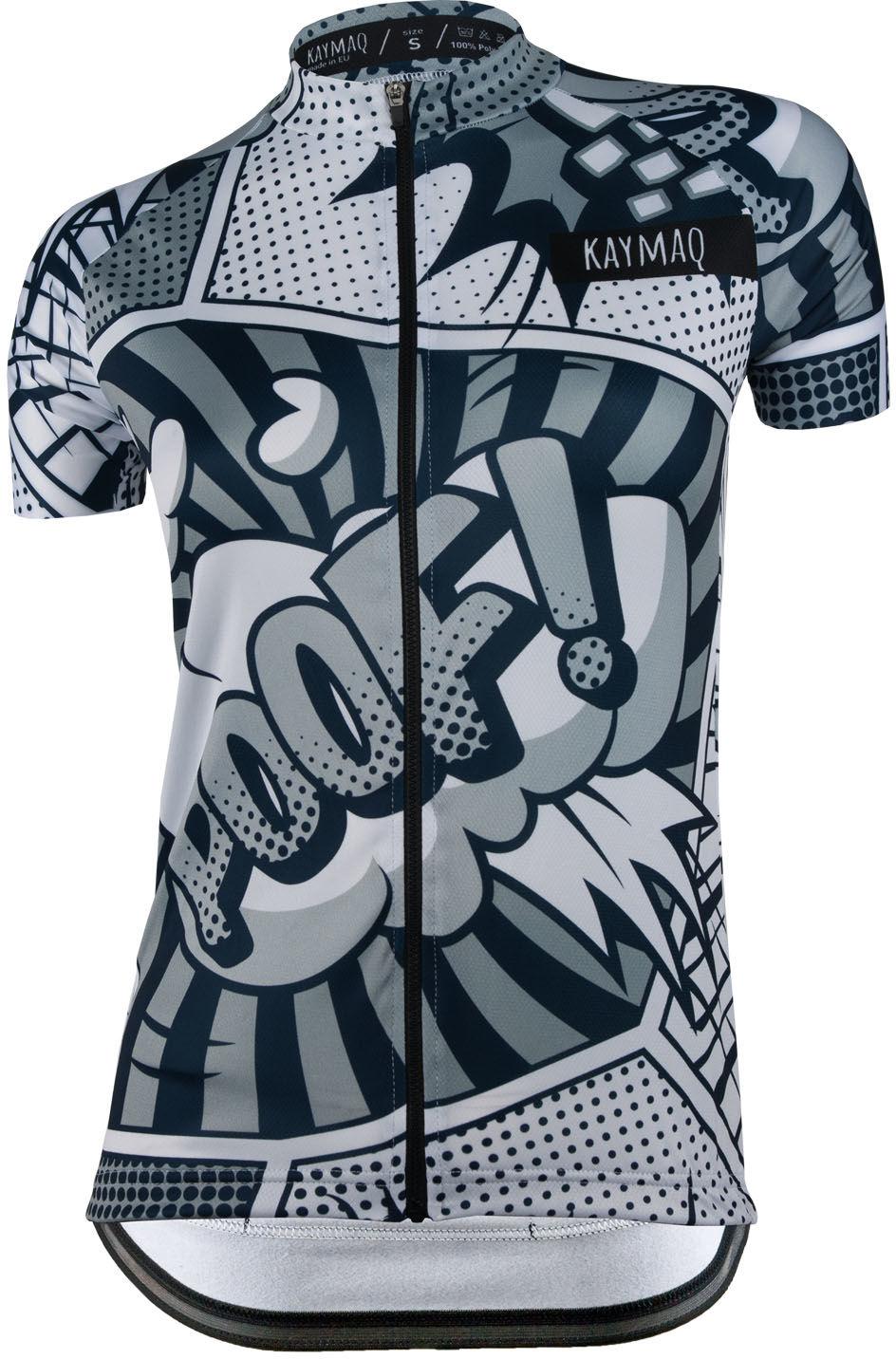 KAYMAQ DESIGN W24 damska koszulka rowerowa krótki rękaw Rozmiar: M,KYMQ-W24-KOSZ