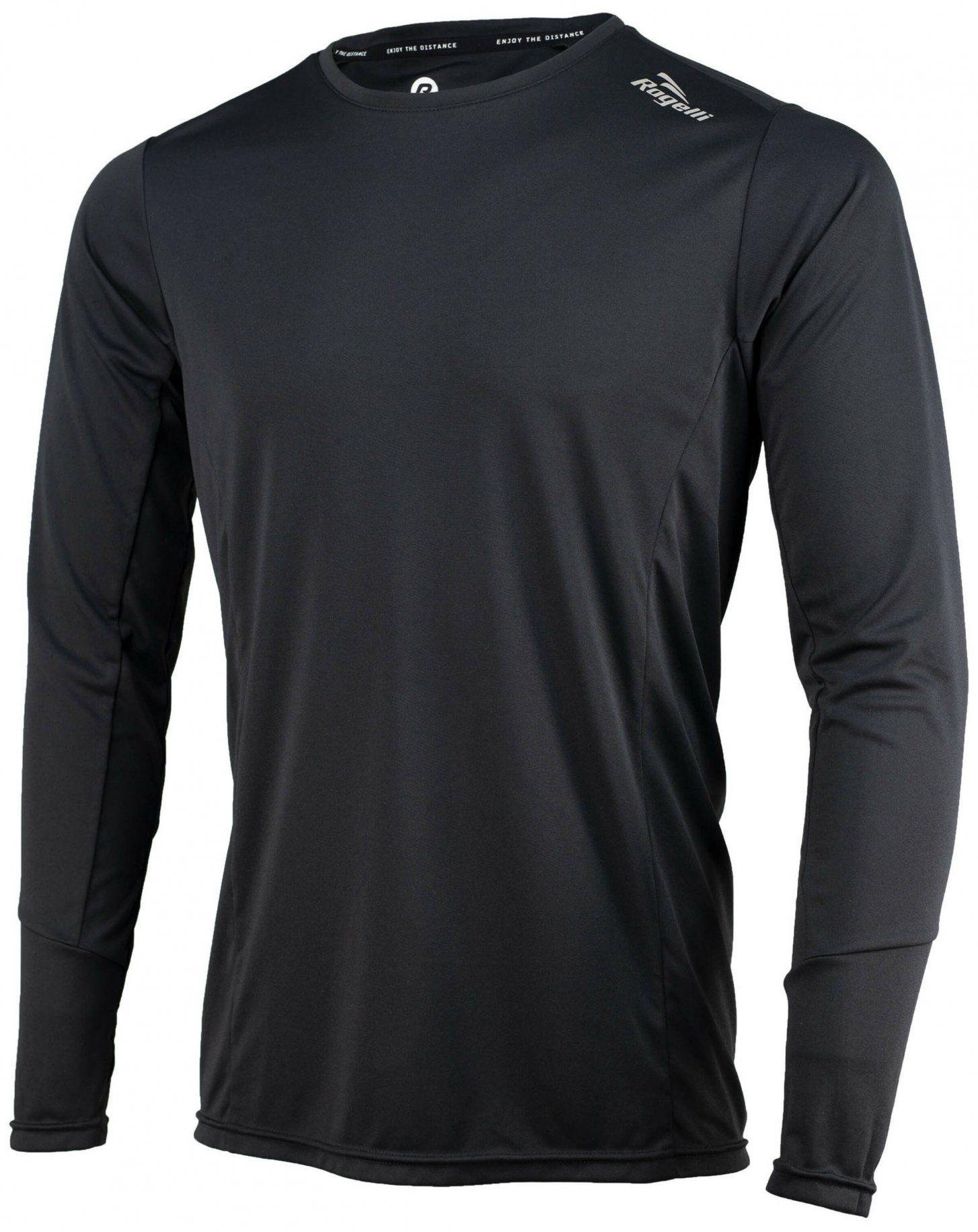 Rogelli RUN 800.261 BASIC koszulka z długim rękawem do biegania czarna Rozmiar: S,800.261