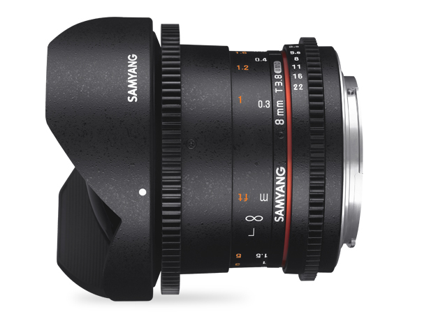 Samyang 8mm T3.8 VDSLR UMC Fish-eye CS II - obiektyw do Sony E Samyang 8mm T3.8 VDSLR UMC Fish-eye CS II