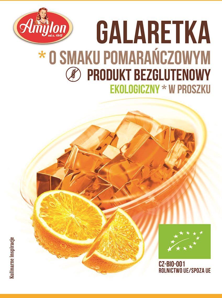 Galaretka o smaku pomarańczowym bezglutenowa bio 40 g - amylon