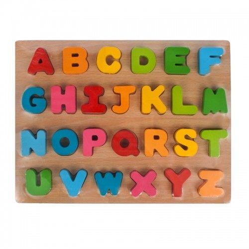 Układanka drewniana 27 elementów Alfabet MEGA CREATIVE 435865