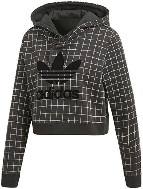 adidas CLRDO damska bluza z kapturem, czarna, 30