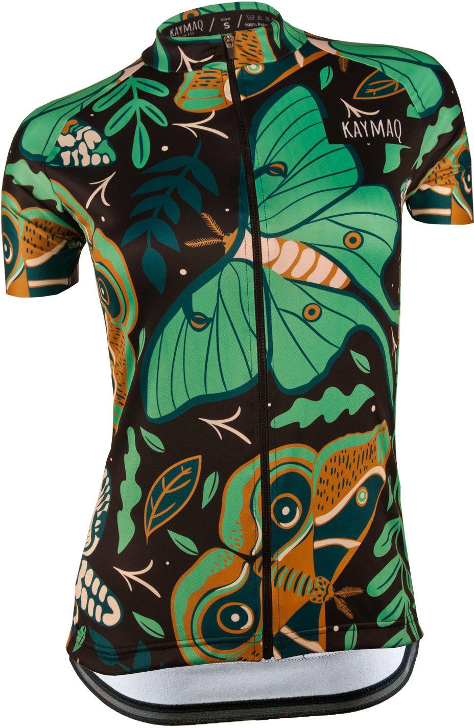 KAYMAQ DESIGN W16 damska koszulka rowerowa krótki rękaw Rozmiar: S,KYMQ-W16-KOSZ