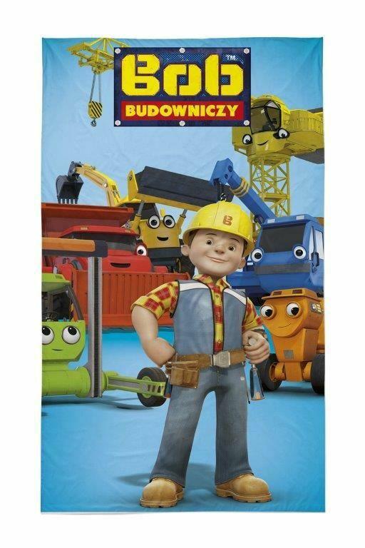 Ręczniczek do przedszkola 30x50 Bob Budowniczy Koparka Dźwig spychacz dziecięcy bawełniany 0700