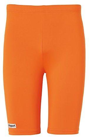 uhlsport Tight Distinction Colors męskie legginsy pomarańczowa Fluo Orange X-L