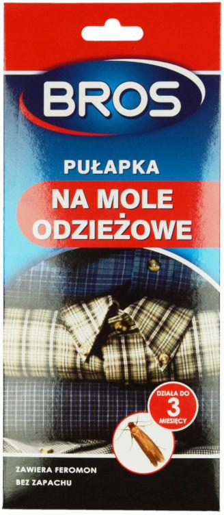 Pułapka na mole odzieżowe Bros. Lep na mole w szafie, garderobie.