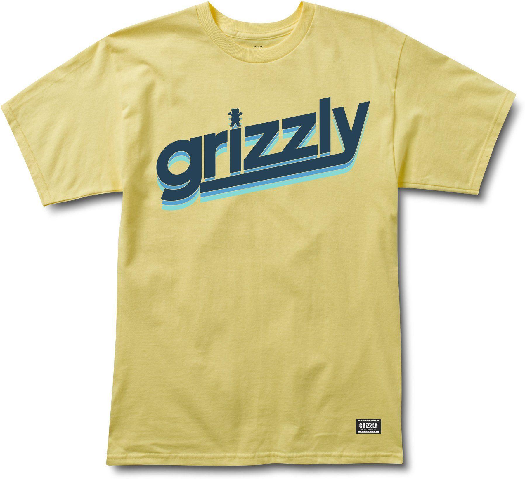 t-shirt męski GRIZZLY FAST TIMES TEE Banana