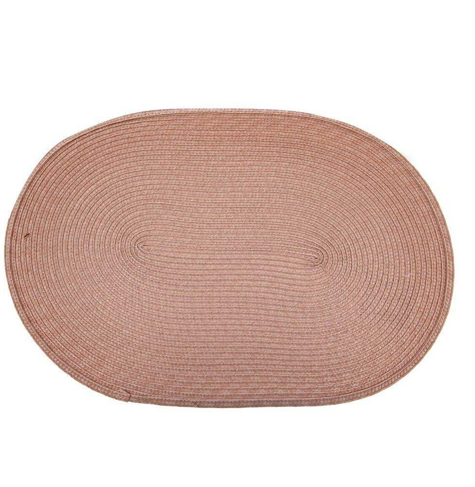 Podkładka mata kuchenna OWALNA na stół ochronna pod talerze sztućce RÓŻOWA 45x30 cm