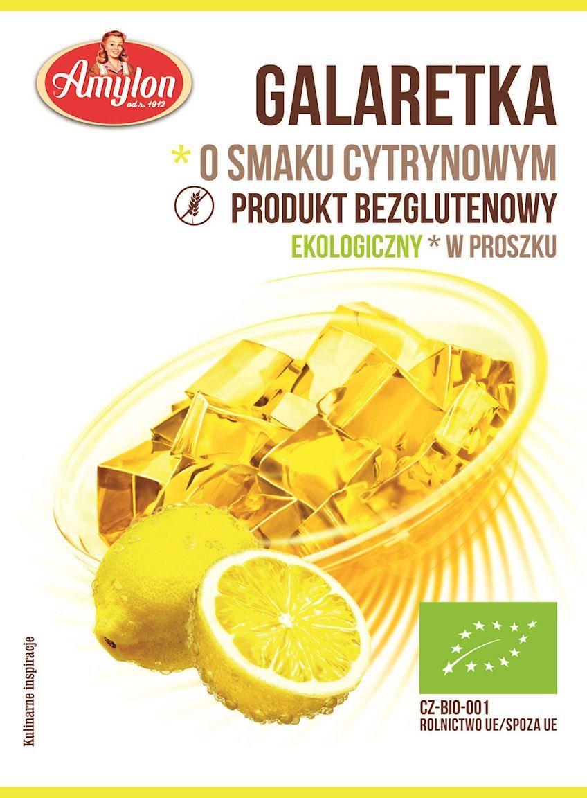 Galaretka o smaku cytrynowym bezglutenowa bio 40 g - amylon