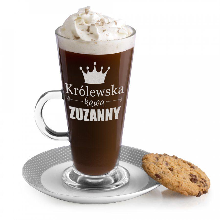 Szklanka do latte z grawerem dla niej na Dzień Kobiet wieczór p