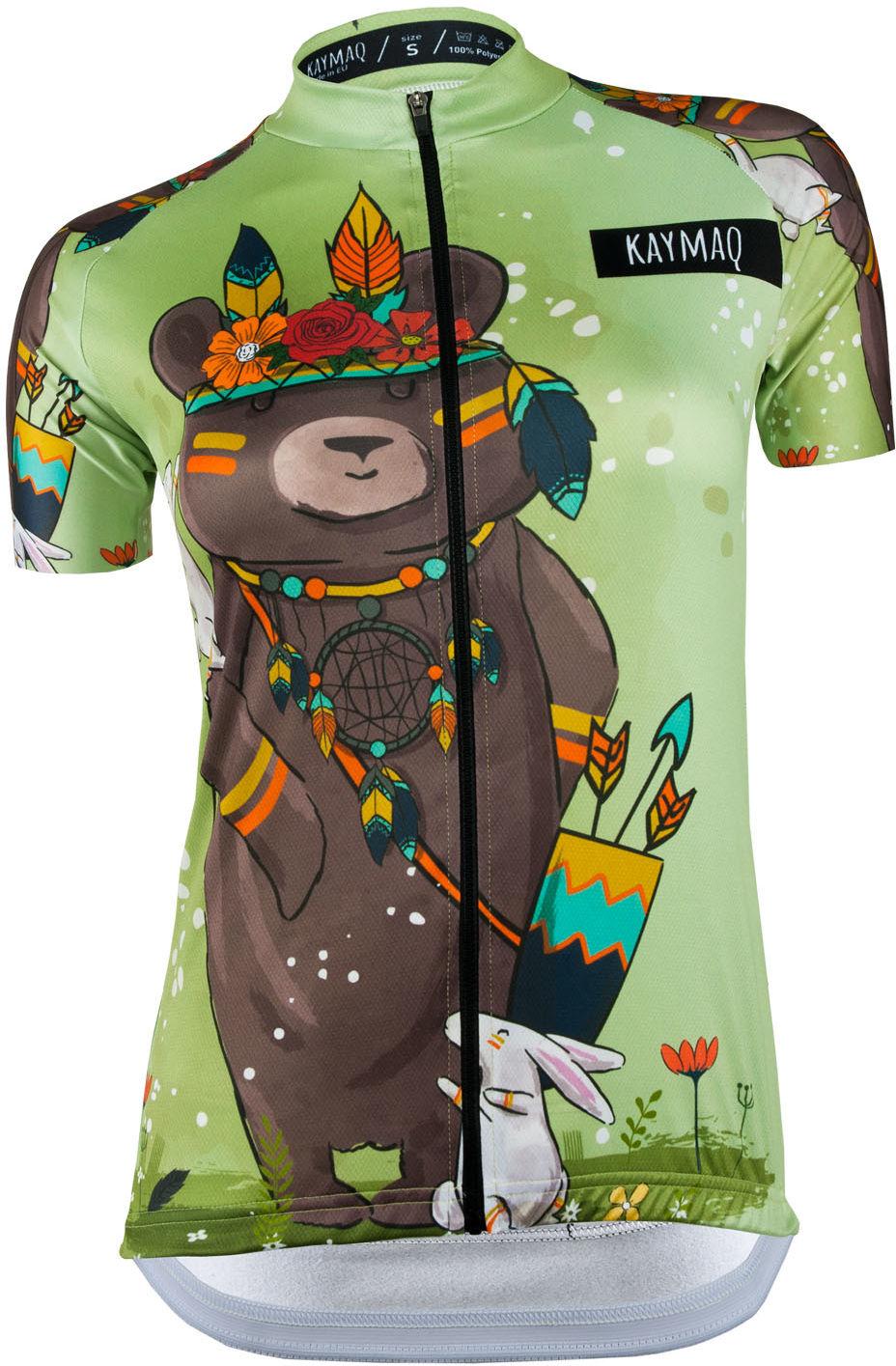 KAYMAQ DESIGN W12 damska koszulka rowerowa krótki rękaw Rozmiar: S,KYMQ-W12-KOSZ