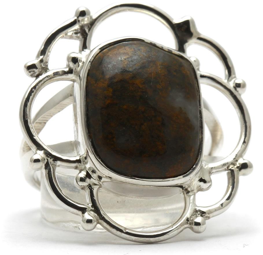 Kuźnia Srebra - Pierścionek srebrny, rozm. 17, Bronzyt, 6g, model