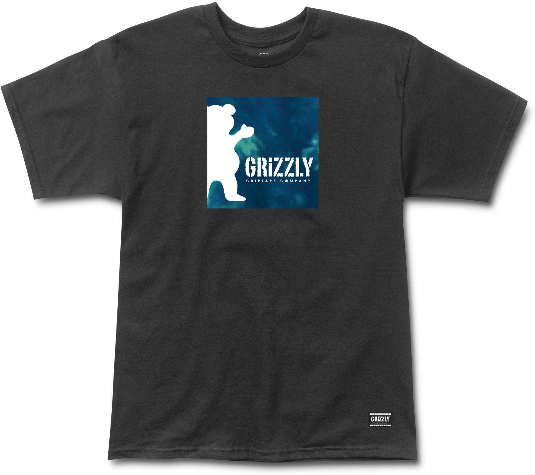 t-shirt męski GRIZZLY DEEP WATER TEE Black