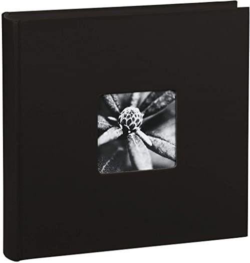 Hama Album fotograficzny Jumbo 30 x 30 cm (fotoksiążka ze 100 czarnymi stronami, album na 400 zdjęć do samodzielnego ozdobienia i wklejania), czarny