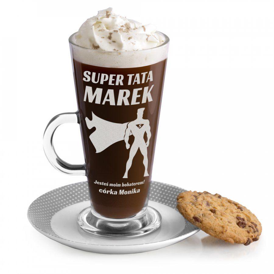 Szklanka do latte z grawerem dla taty kinomana