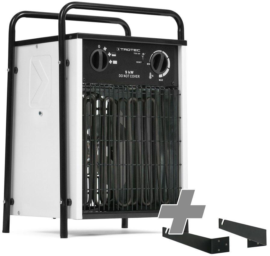 Nagrzewnica elektryczna TDS 50 biała + Mocowanie na ścianę i pod sufit
