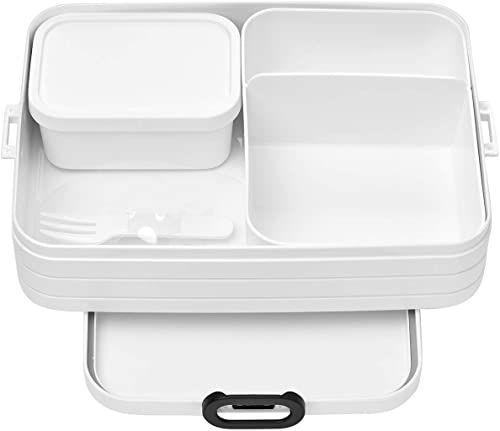 Mepal Bento-Lunchbox Take A Break duży pojemnik na kanapki z przegródkami, przeznaczony do maks. 8 chlebków maślanych, TPE/pp/abs, 0 mm