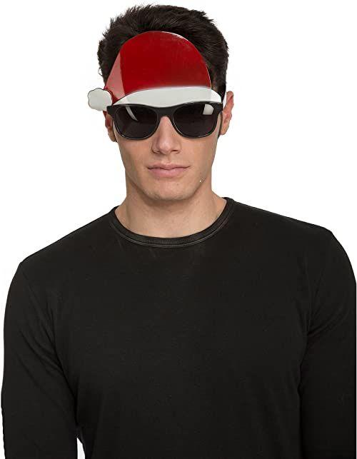 Kostiumy żywe 204627 okulary Mikołaja, wielokolorowe, jeden rozmiar