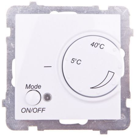 AS Regulator temperatury /czujnik podłogowy/ biały RTP-1G/m/00