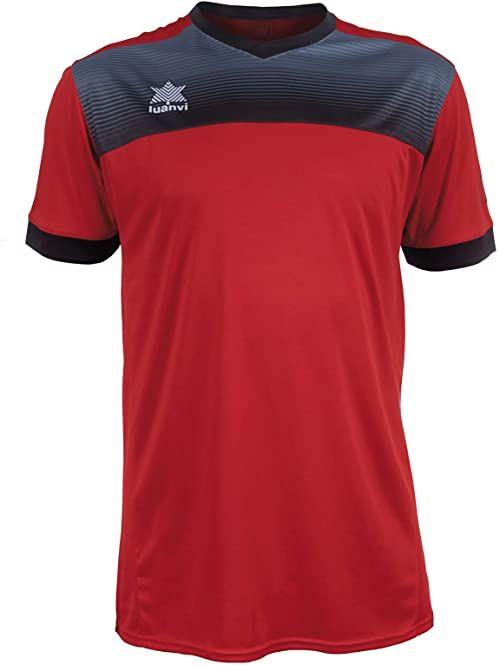 Luanvi Bolton męska koszulka tenisowa z krótkimi rękawami. czerwony czerwony 4XS